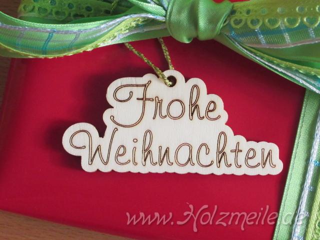 Geschenkanhänger Frohe Weihnachten.Holz Geschenkanhänger Frohe Weihnachten 10910410310 2