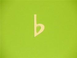 b-Vorzeichen aus Holz