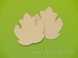 Blatt Zierplatane aus Holz