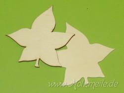 Blatt Zwergahorn aus Holz