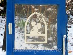 Fensterbild oder Baumhänger Engel Ina Fensterbogen aus Holz