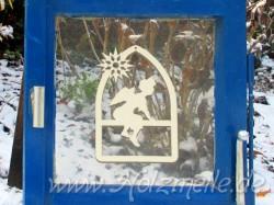 Fensterbild oder Baumhänger Engel Leon Fensterbogen aus Holz