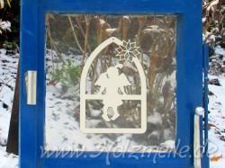 Fensterbild oder Baumhänger Engel Paula Fensterbogen aus Holz