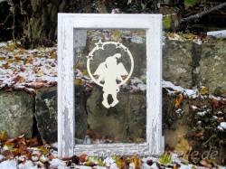 Fensterbild Engel Paula Sternenkreis aus Holz