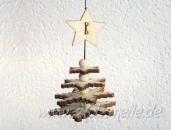 Bastelset Flockenchristbaum aus Holz