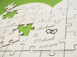 Holz-Puzzleherz Gästebuch