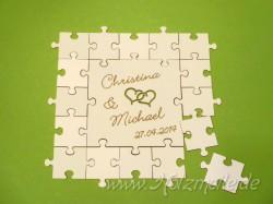 Holz-Puzzle Hochzeits-Gäste 6cm