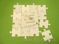 Holz-Puzzle Hochzeits-Gäste 8cm
