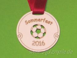 Holz-Medaille Fussball individuell