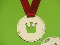 Holz-Medaille Krone