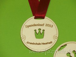 Holz-Medaille Krone individuell
