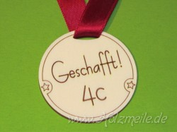 Holz-Medaille individuell