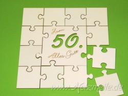 Puzzle Geburtstagsgruss Rand 5cm