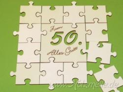 Puzzle Geburtstagsgruss offen 5cm