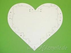 Holz-Puzzleherz Rückseitenplatte