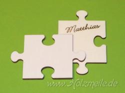 Holz-Puzzleteil Platzkarte Mitte KLKL