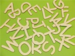 Schrift Schweden Alphabet komplett aus Holz