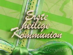 "Holz-Schriftzug ""Erste heilige Kommunion"""
