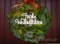 """Holz-Schriftzug """"Frohe Weihnachten"""""""