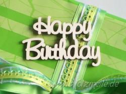"Holz-Schriftzug ""Happy Birthday"""