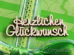 """Holz-Schriftzug """"Herzlichen Glückwunsch"""""""