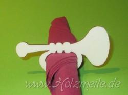 Holz-Serviettenring Trompete