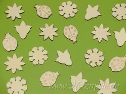 Streuteile Blumenwiese aus Holz