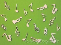 Streuteile Musik aus Holz