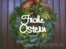 """Holz-Schriftzug """"Frohe Ostern"""""""