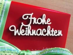 """Holz-Schriftzug """"Frohe Weihnachten"""" klein"""