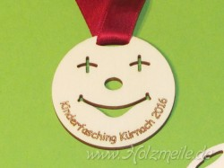 Holz-Medaille Smile Event