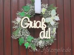 """Holz-Schriftzug """"Griaß di!"""""""